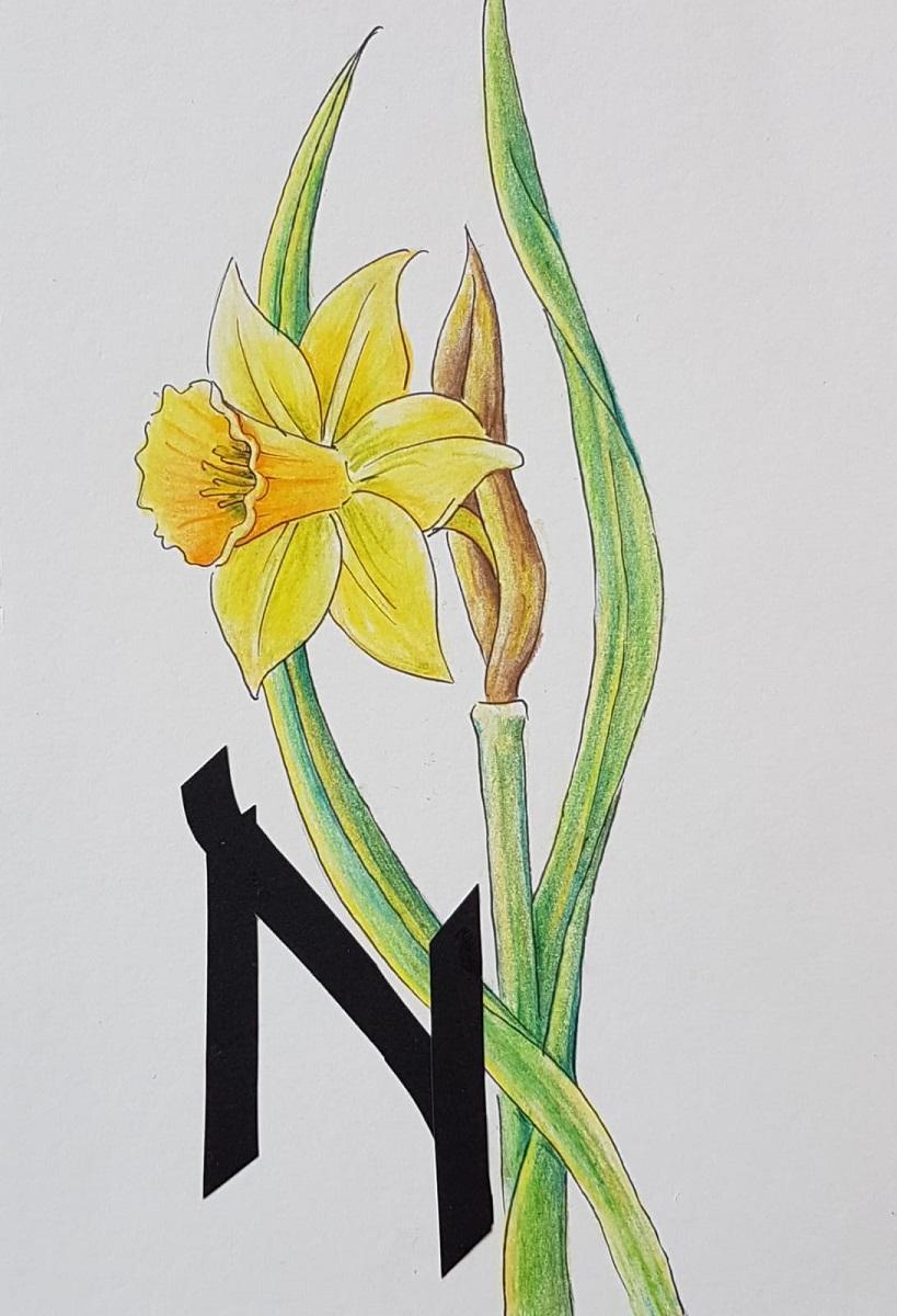papercut and pencil